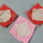 母の日 折り紙で簡単にできるバラの手作りメッセージカードの作り方