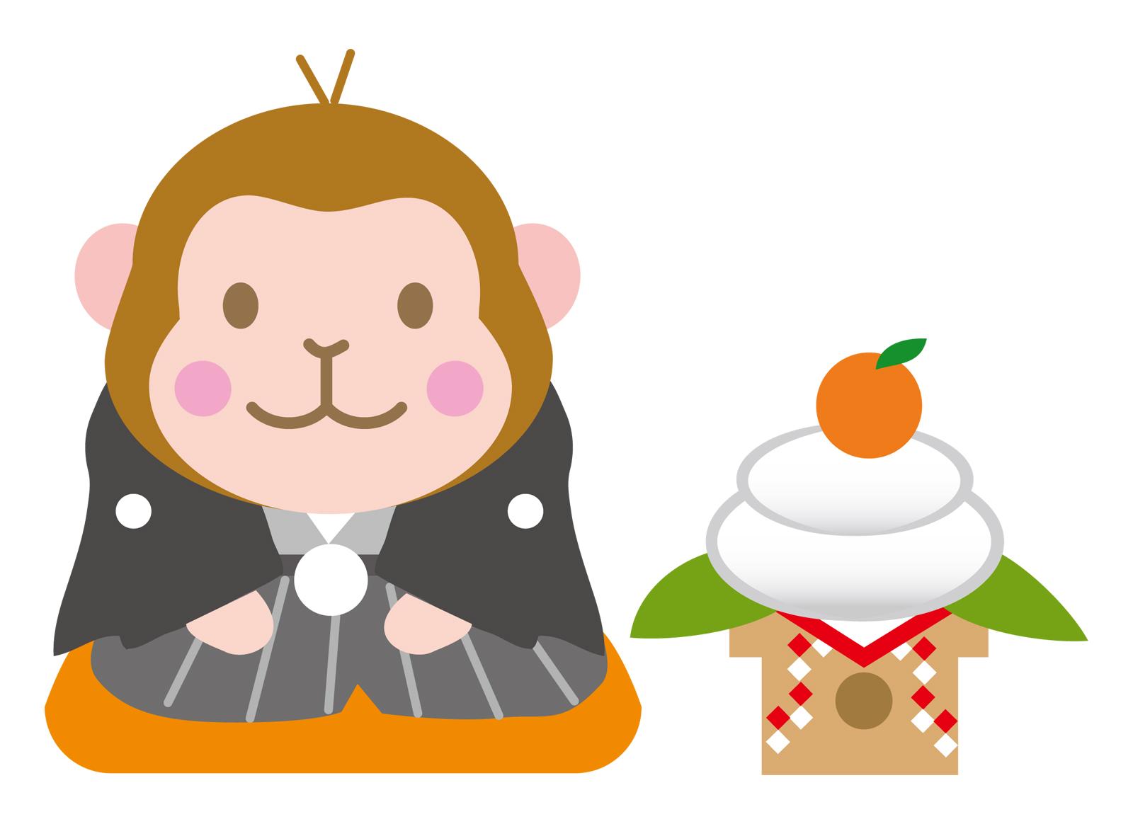 年賀状に使えるおしゃれな猿のイラスト無料素材と画像サイト♪ | 福来たる